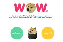 WOW.js – 在页面滚动时展现动感的元素动画效果-小李子的blog