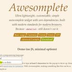 Awesomplete – 零依赖的简单自动完成插件-小李子的blog