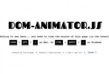 Dom Animator – 提供 Dom 注释动画的 JS 库-小李子的blog