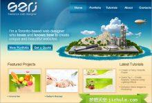 漂亮的蓝色风格网页设计作品欣赏(系列二)-小李子的blog