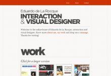 30个漂亮的单页作品集网站设计案例欣赏-小李子的blog