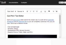 可以灵活自定义的开源的富文本编辑器-小李子的blog