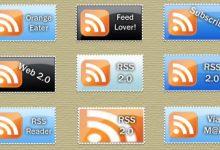50个精美的 RSS 订阅图标分享(下篇)-小李子的blog
