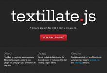 20款基于 jQuery & CSS 的文本效果插件-小李子的blog