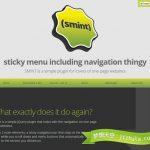 Smint – 用于单页网站制作的 jQuery 导航菜单插件-小李子的blog