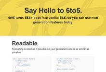 6to5 – 即刻体验 ECMAScript 6 编程-小李子的blog
