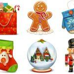 【精品素材分享】一组免费闪亮的圣诞节透明图标素材-小李子的blog