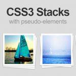 使用 CSS3 伪元素实现照片堆叠效-小李子的blog