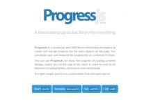 Progress.js – 为页面上的任意对象创建进度条效果-小李子的blog