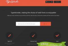 TypeWonder – 在任何网站上实时预览字体效果-小李子的blog