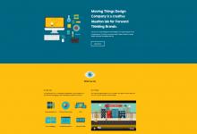 潮流设计!15个现代风格的单页扁平化网站设计-小李子的blog